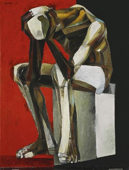 Ang Kiukok Thinking Man 1977